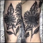 Flower leg tattoos