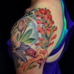 indian flower tattoo
