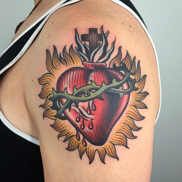 old school heart tattoo