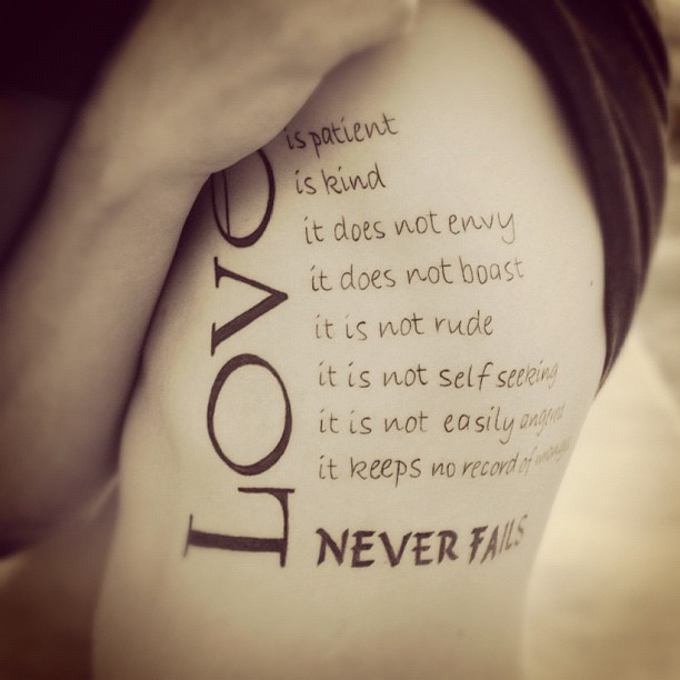 Tattoo Quotes About Love: Love Tattoos – The Most Emotional Ones