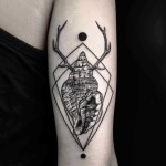 Antler Shell Tattoo