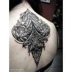 Back Dotwork Tattoo for Girl