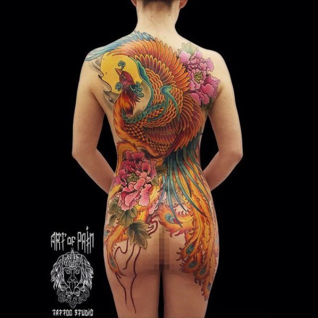 Back Oriental Tattoo