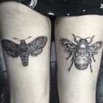 Bug Tattoos on Thigh