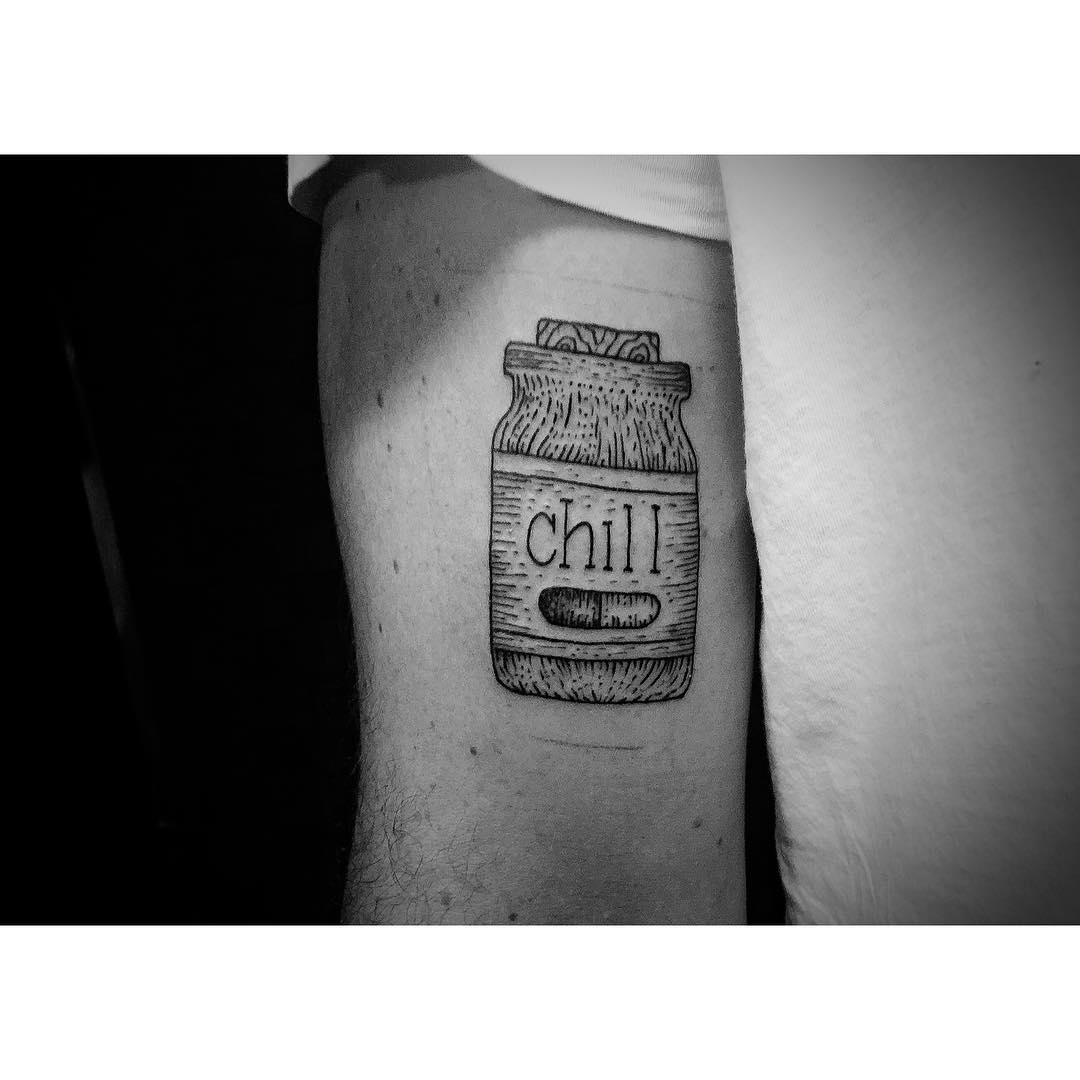 Can of Chill Tattoo
