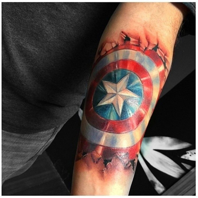 captain america shield tattoo best tattoo ideas gallery