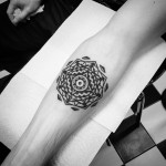 Circle Geometry Tattoo Pattern