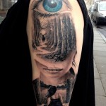 Cool Composition Tattoo on Shoulder