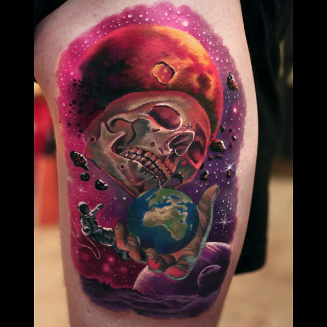 Death Impact Space Tattoo