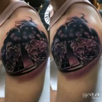 Diamond Tattoo on Shoulder