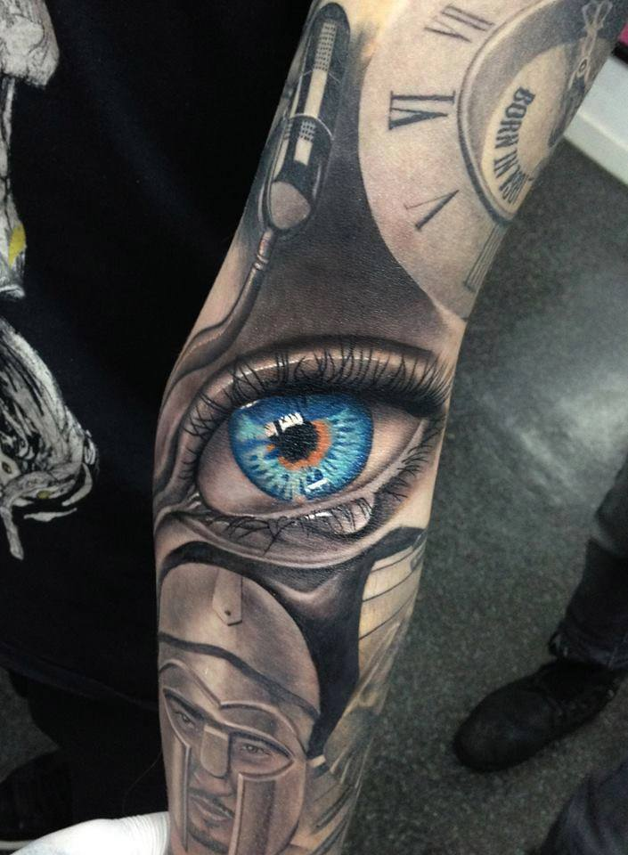 eye tattoo by Eduard Virlan
