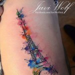 Eiffel Tower Tattoo