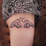 Feather Wings Butterfly Tattoo