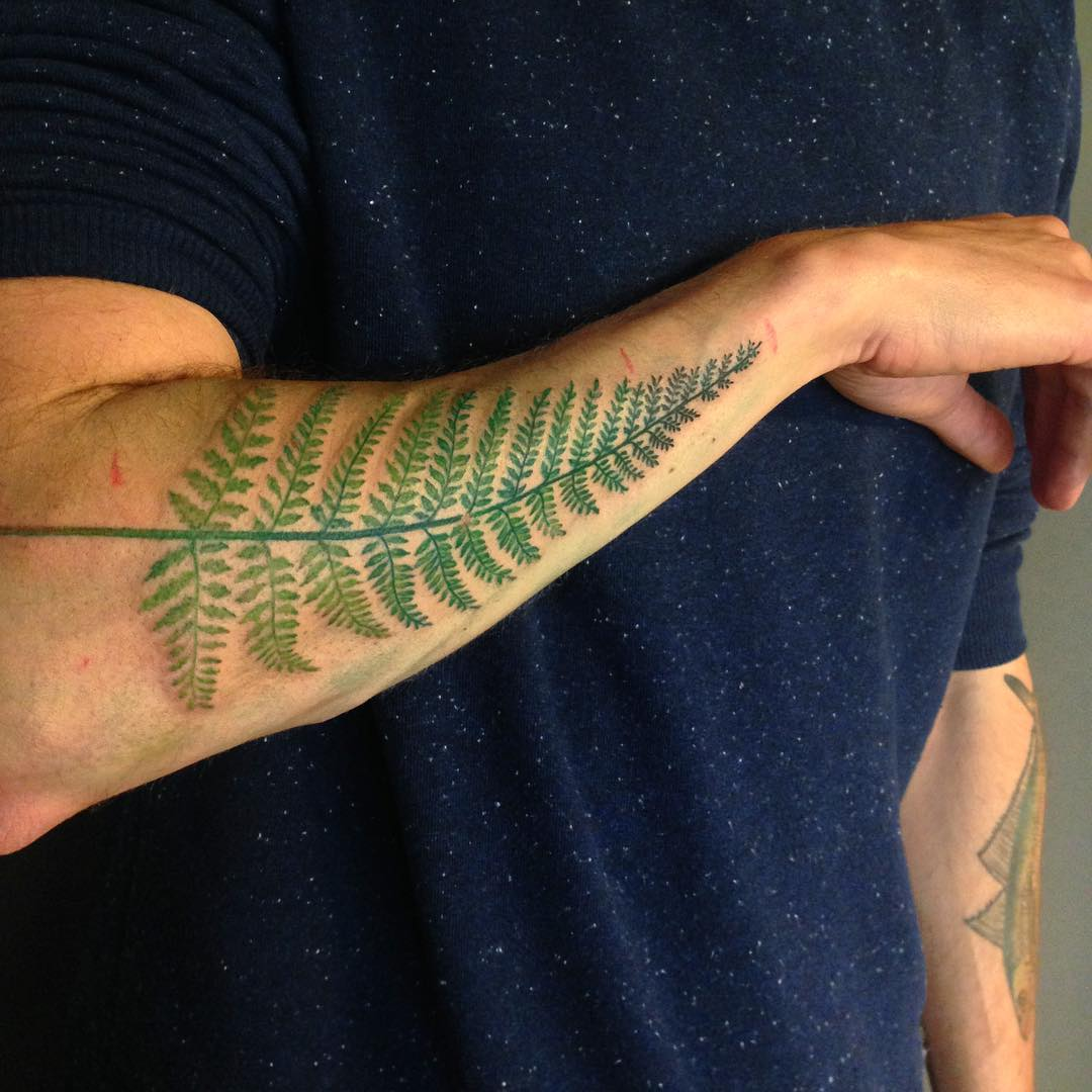 Fern Leaf Tattoo on Arm