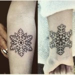 Fluffy Snowflakes Tattoos