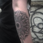 Forearm Mandala Dotwork Tattoo