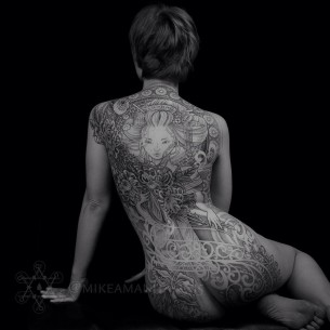 Full Back Beautiful Tattoo