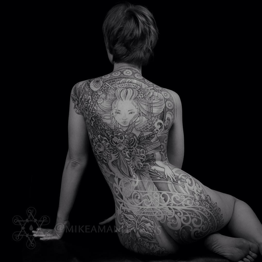 Full Back Beautiful Tattoo