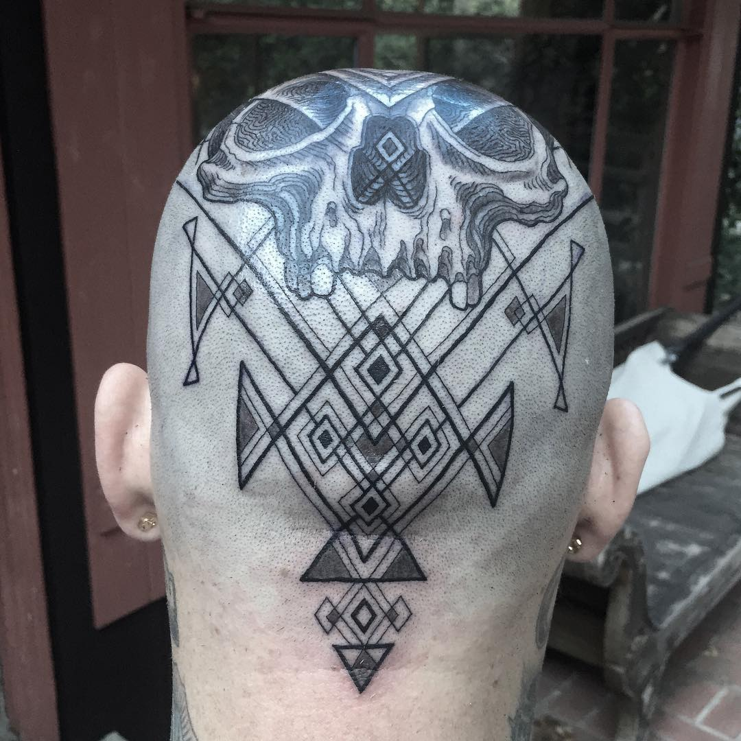 1 Geometry Skull Head Tattoo