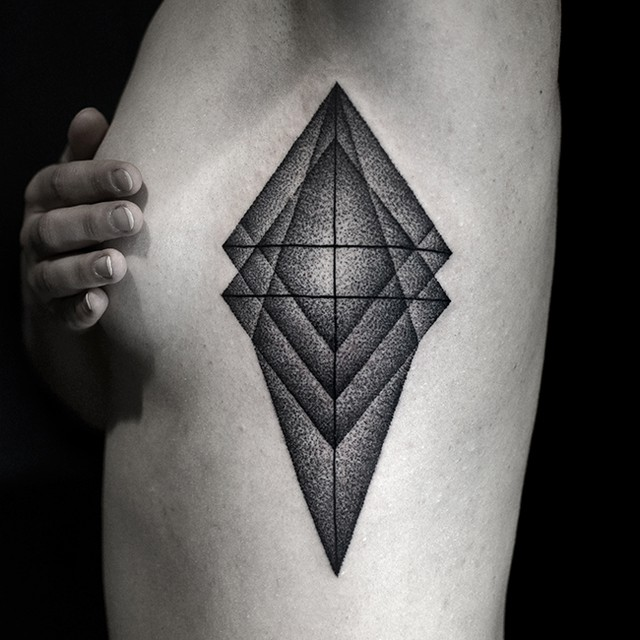 Geometry Tattoo on Body Side