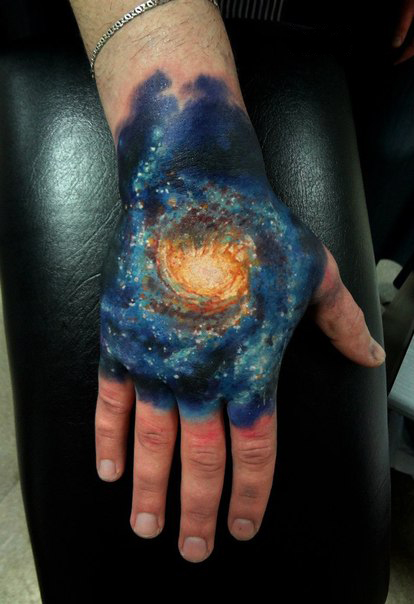 Glaxy space tattoo