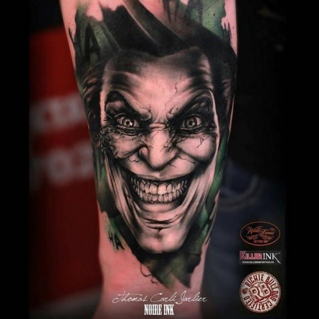 Joker Tattoo on Arm