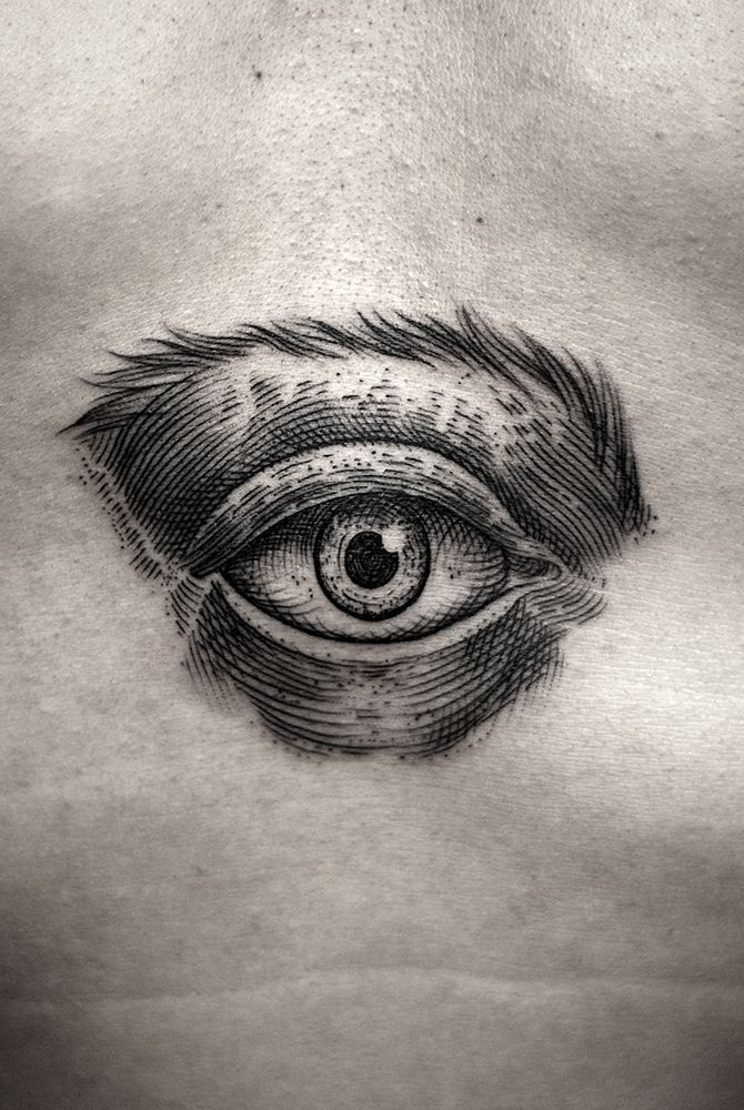 eye tattoo by Kamil Czapiga