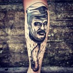 Leg Moby Dick Whale Tattoo