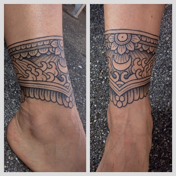 Mehendi Ankle Tattoo
