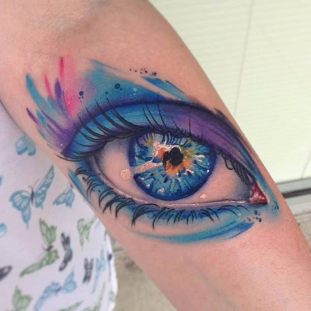 eye tattoo by Mike Shultz