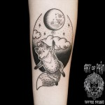 Moon Baloon Fox Tattoo