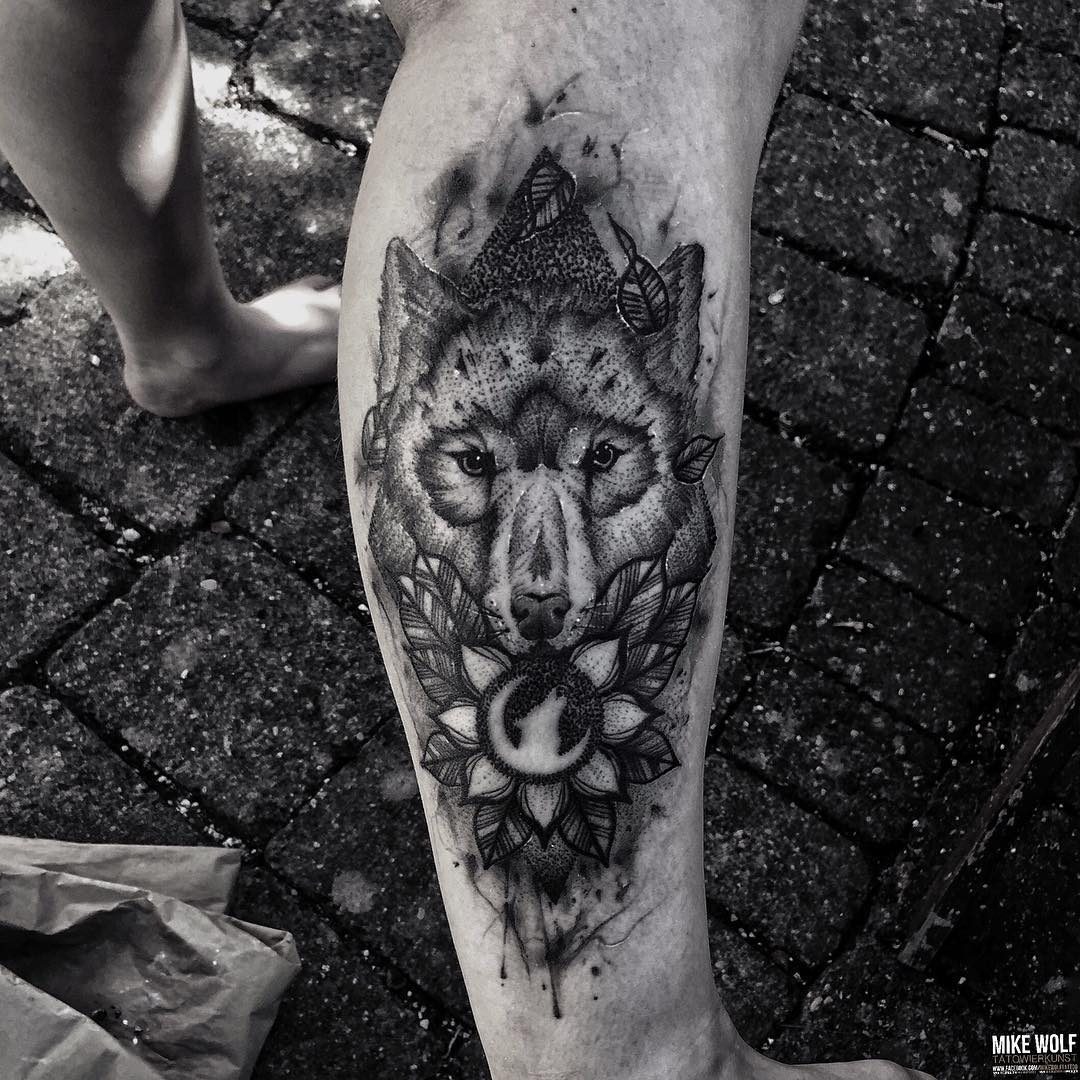 Moon Wolf Tattoo Best Tattoo Ideas Gallery