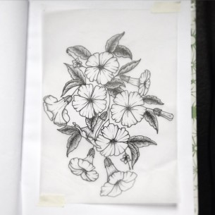 Moonflower Tattoo Design