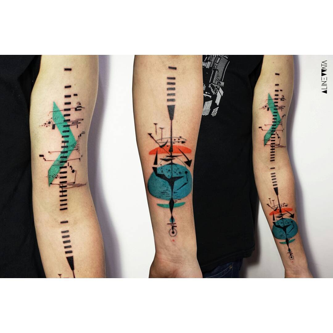 Music and Sound Tattoo on Arm