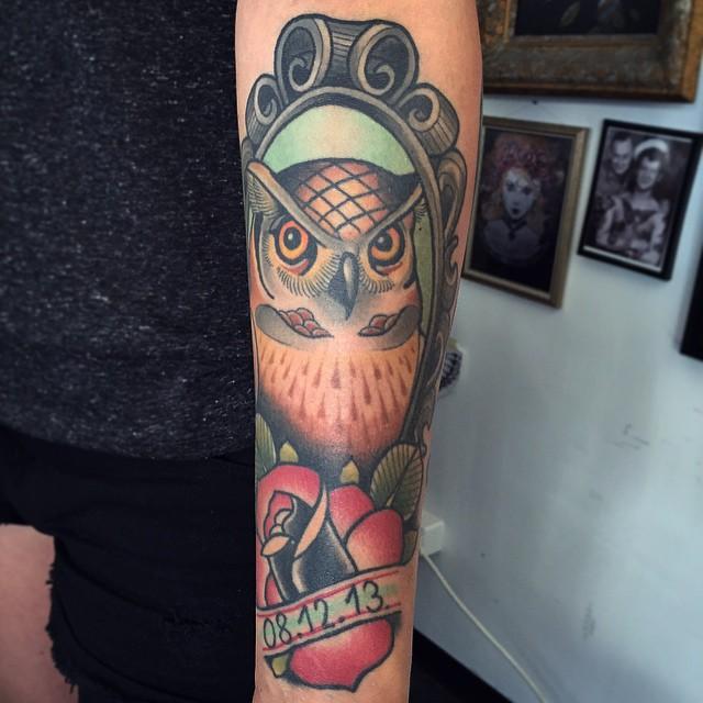 New School Owl Tattoo Best Tattoo Ideas Gallery