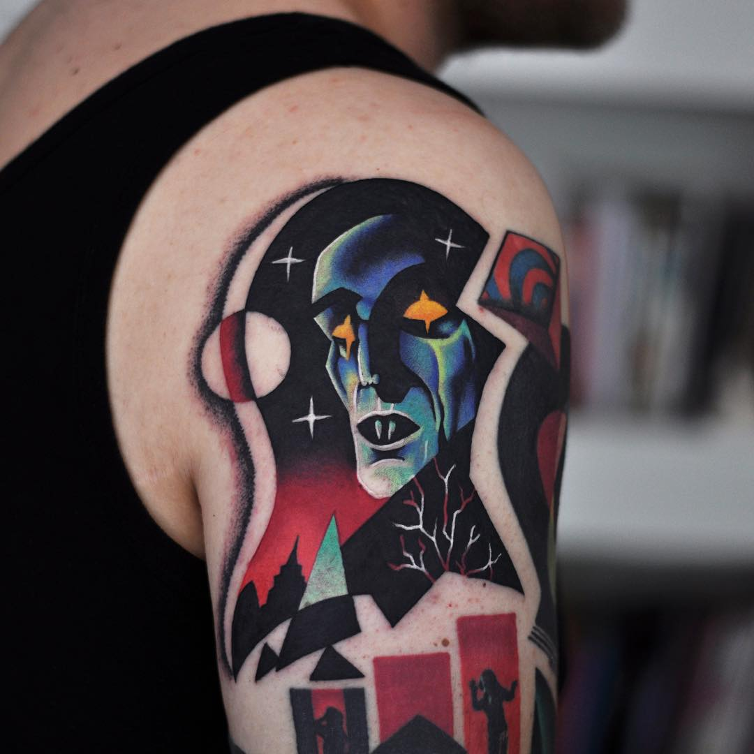 Nosferatu Tattoo on Shoulder