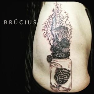 Organs in a Jar Tattoo