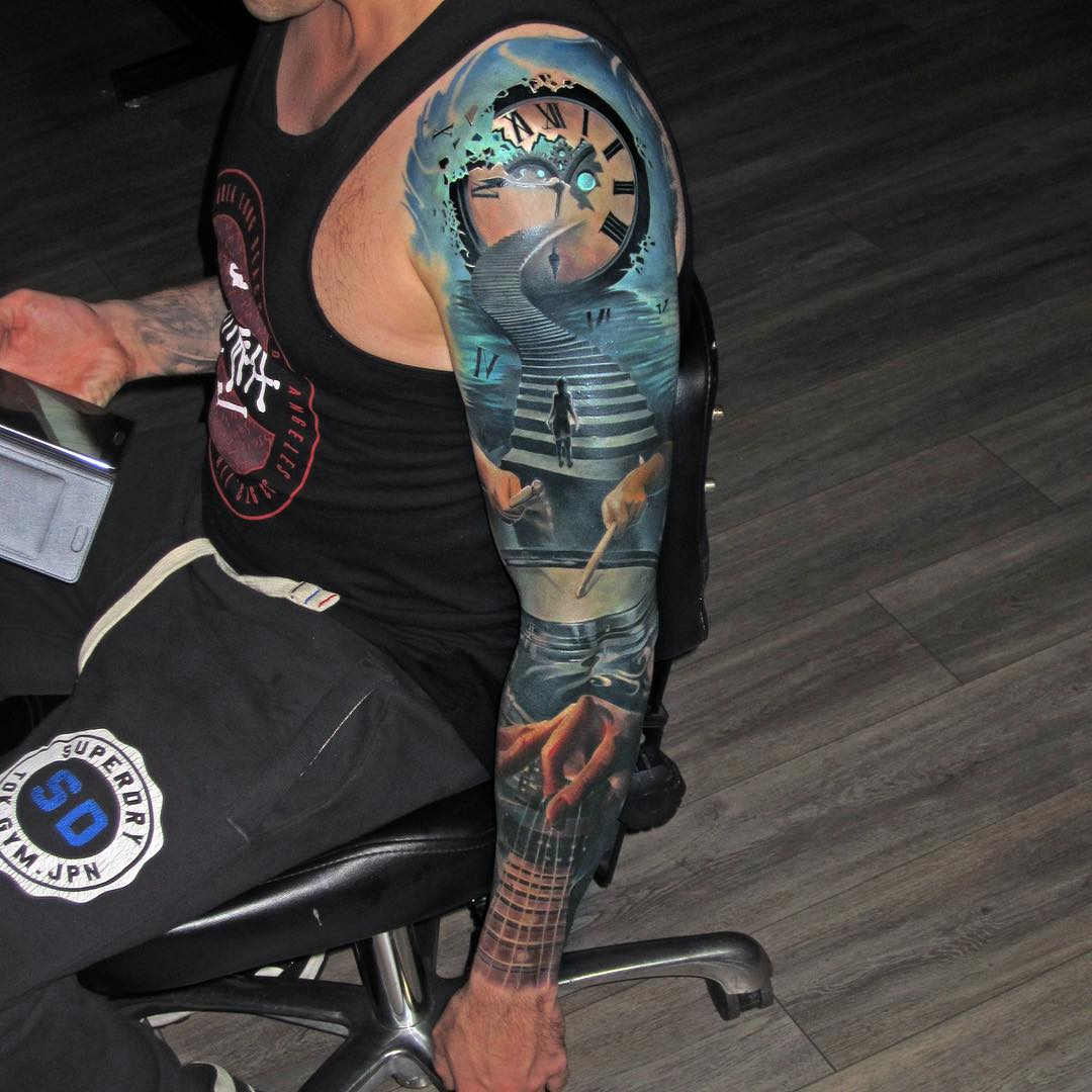 Road To Success Tattoo Sleeve