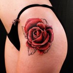 Rose Tattoo on Hip