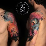 Sky Space Tattoo on Shoulder