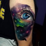 Space Eye Tattoo