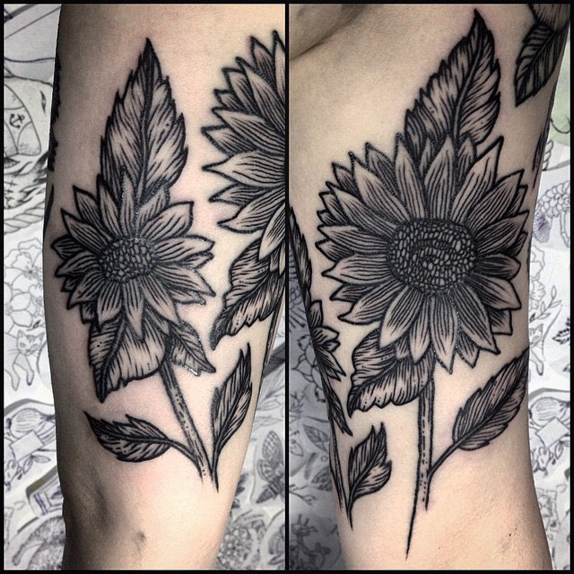 Sun Flower Tattoo