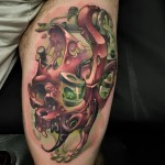 Tattoo Machine Paint Skull Tattoo