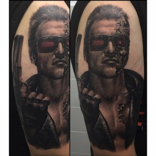 Realistic tattoos best tattoo ideas gallery part 8 for Terminator face tattoo