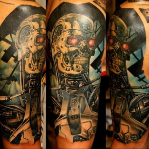Realistic tattoos best tattoo ideas gallery part 10 for Terminator face tattoo