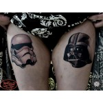 Thigh Trooper Darth Vader Tattoos