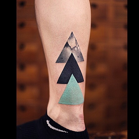 Three Triangles Tattoo on Ankle
