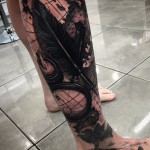 Travel Map Tattoo on Leg