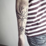 Tree Geometry Tattoo
