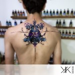 Vader Ink Stain Tattoo on Back